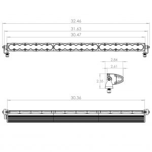 """Baja Designs® S8™ 30"""" Driving/Combo LED Light Bar with Harness"""