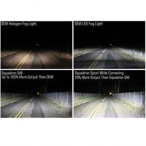 Baja Designs® Squadron™ SAE LED Fog Lights Pair Wide Cornering