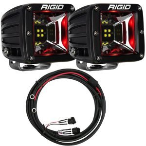 "Rigid® Radiance Pod Scene 3"" LED Light Pods (Red Backlight) w/Harness"