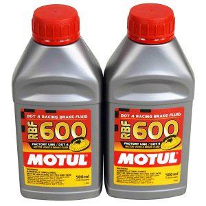 Motul® 100949 Fully Synthetic RBF 600 DOT 4 Brake Fluid 500ml / 0.5L (2-PACK)