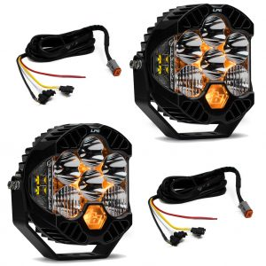 Baja Designs® LP6 Pro LED Light Kit Jeep JL/JT Rubicon Bumper (Upfitter Harness)