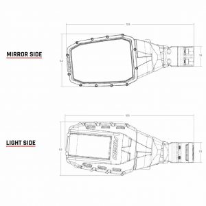 Rigid Industries® 64011 Reflect LED Lights Side Mirrors Pair