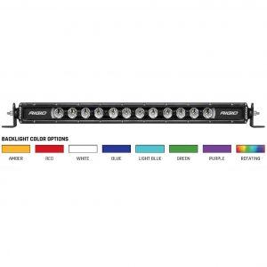 "Rigid Industries® 20"" Radiance Plus SR-Series 8 Option Backlight LED Bar w/Harness"