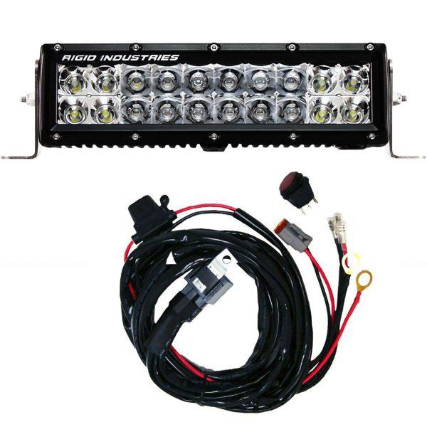 Rigid Industries® E-Series Pro 10-inch Spot/Flood Combo LED Light Bar Amber