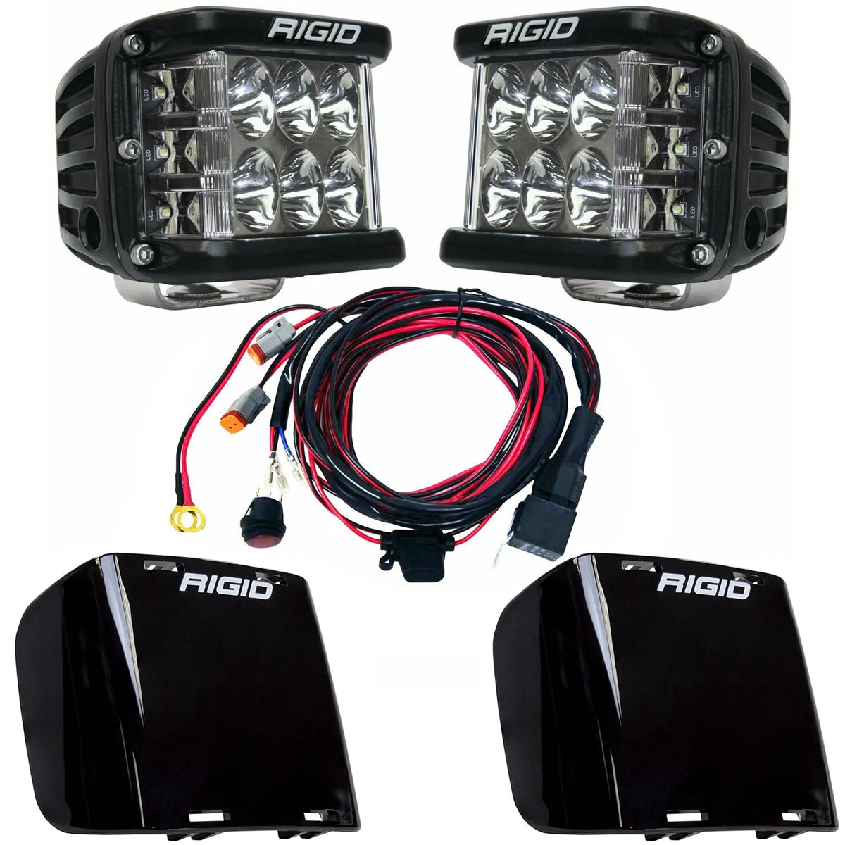 Rigid Industries® D-SS Pro Driving LED Light Pods Pair w/Harness & Black Covers