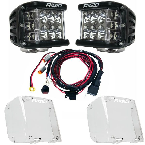 Rigid Industries® D-SS Pro Driving LED Light Pods Pair w/Harness & Clear Covers