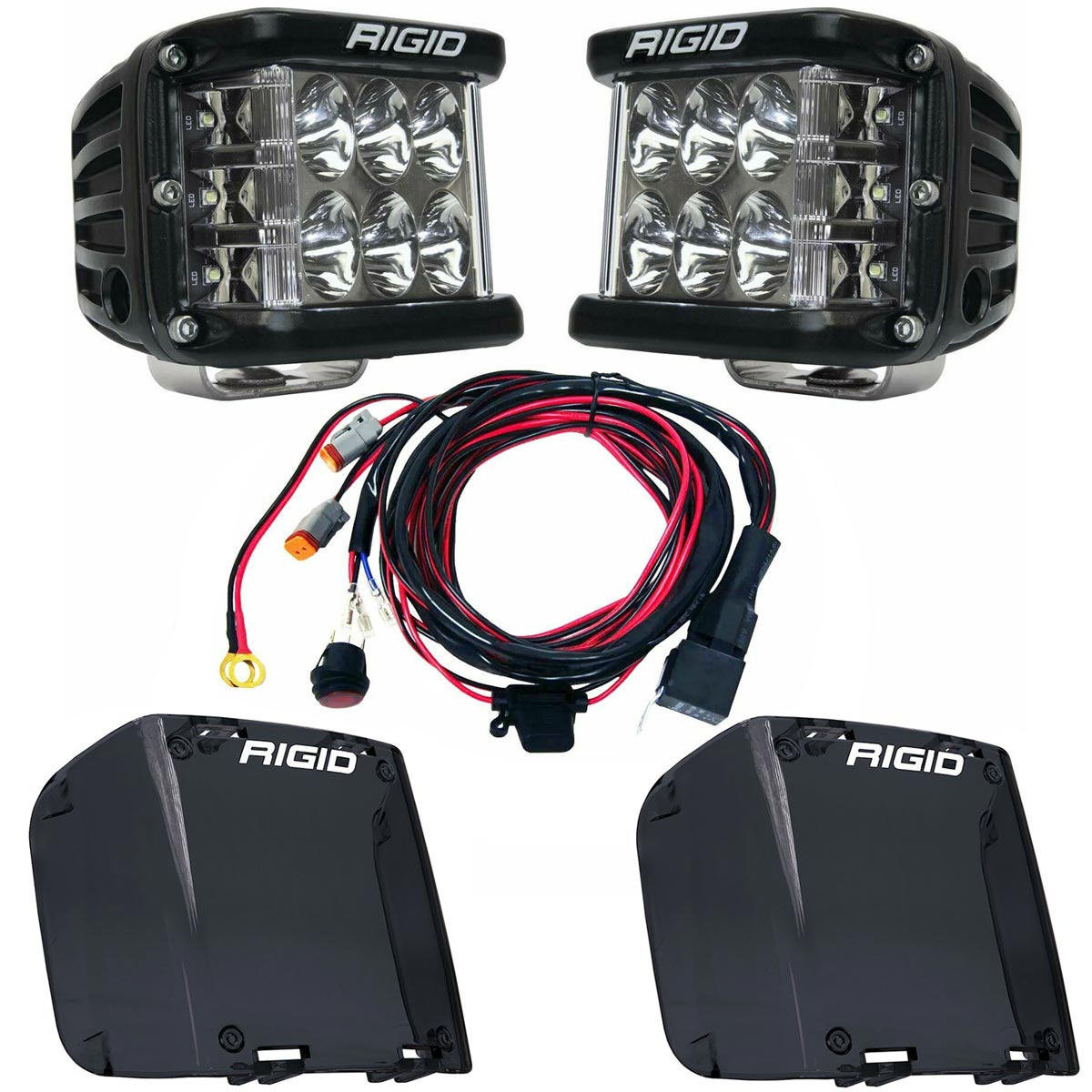 Rigid Industries® D-SS Pro Driving LED Light Pods Pair w/Harness & Smoke Covers