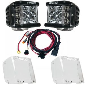 Rigid Industries® D-SS Pro Flood LED Light Pods Pair w/Harness & Clear Covers