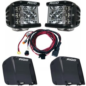 Rigid Industries® D-SS Pro Flood LED Light Pods Pair w/Harness & Smoke Covers