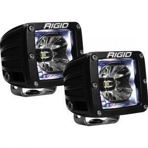 """Rigid® Radiance Pod 3"""" Cube LED Light Pods (White Backlight)"""