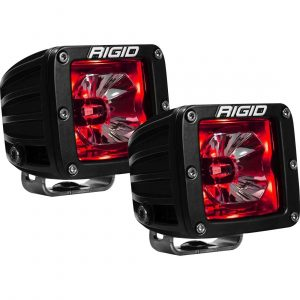 "Rigid® Radiance Pod 3"" Cube LED Light Pods (Red Backlight)"