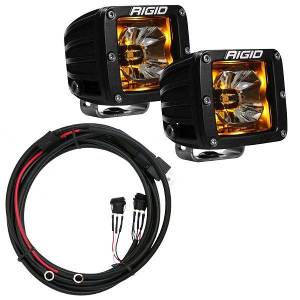 "Rigid® Radiance Pod 3"" Cube LED Light Pods (Amber Backlight) w/Harness"