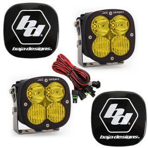 Baja Designs® XL Sport Driving/Combo Amber LED Lights Pair w/Rock Guards