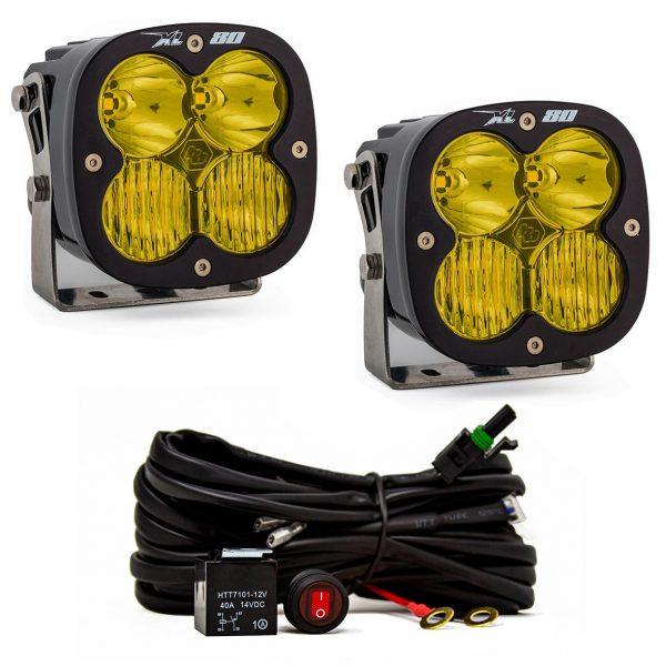 Baja Designs® XL80™ LED Lights Pair Amber Driving/Combo