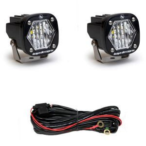 Baja Designs® S1 LED Lights Pair Wide Cornering with Wire Harness